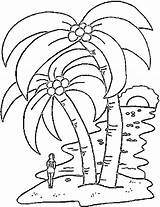 Coloring Island Tropical Popular sketch template