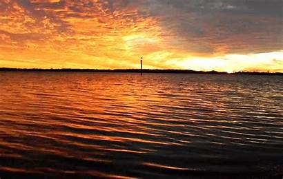 Sunset Beach Lake Water Nature Gifs Sunrise