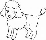 Poodle Clip Clipart French Coloring Dog Puppy Cliparts Outline Colorable Line Colouring Pug Library Toy Attribution Forget Link Don Sweetclipart sketch template