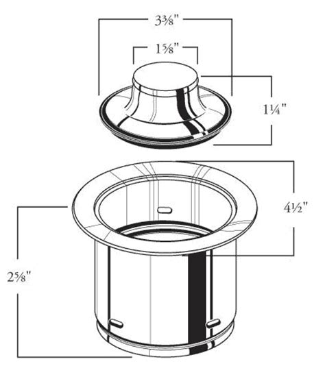 waste king garbage disposal flange garbage disposer flanges and stoppers in a variety of finishes