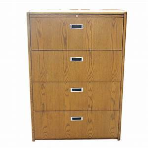 vintage four drawer wood file cabinet ebay With document drawer cabinet