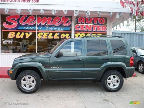 2003 green jeep liberty 2002 shale green metallic jeep liberty limited 4x4