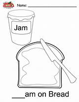 Coloring Jam Pages Breadbox Template sketch template
