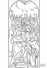 Pentecost Coloring Holy Spirit Disciples Pages Came Printable Dot Drawing Supercoloring Greco El Puzzle Bible sketch template