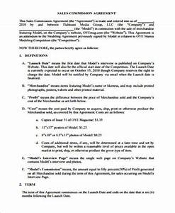 sample commission agreement 10 examples in word pdf With sales commision agreement template