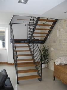 Escalier Metal Et Bois : fabrication escalier bois m tal champagne defrance c2mh ~ Dailycaller-alerts.com Idées de Décoration