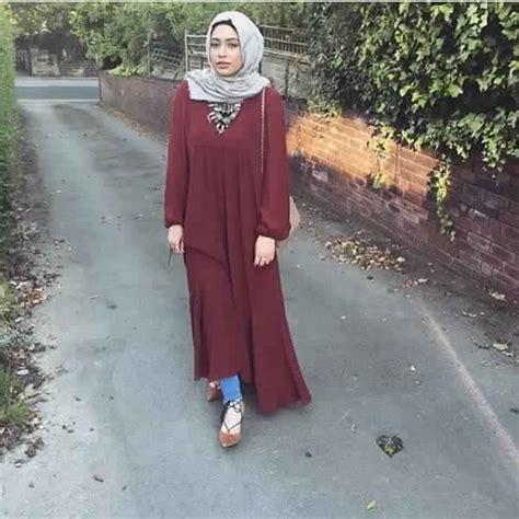 voici comment porter une robe en hiver  styles hijab