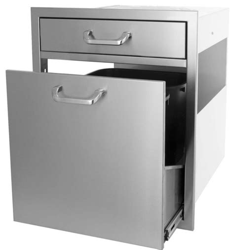 kitchen tray storage bbqguys kingston series single drawer roll out trash 3390