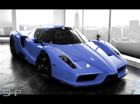 cars ferrari blue sports cars blue enzo ferrari