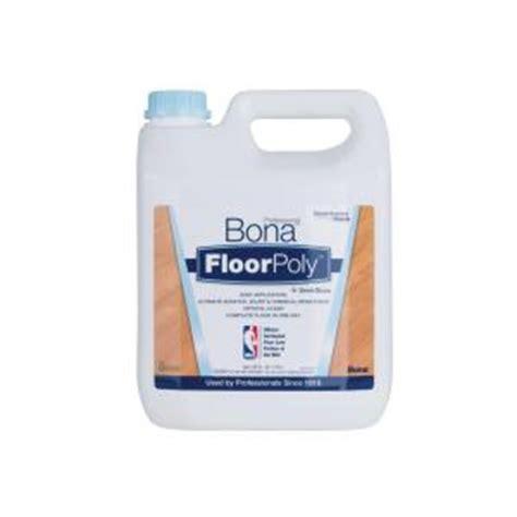 Bona Laminate Floor At Home Depot by Bona 1 Gal Semi Gloss Floor Finish Water Based Floorpoly