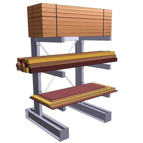 cantilever lumber rack plans woodworking projects plans