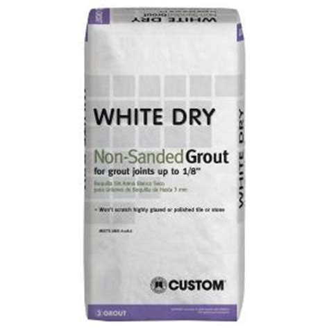 unsanded tile grout home depot custom building products white 25 lb non sanded grout