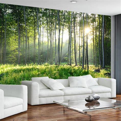 moisissure tapisserie chambre personnalisé photo papier peint 3d vert forêt nature