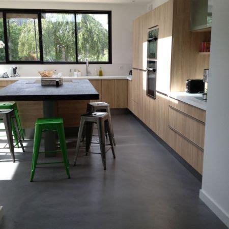sols de cuisine extension de maison cuisine sol béton ciré angers open