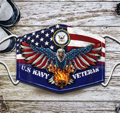 FREE SHIPPING - FREE SHIPPING - US NAVY Veteran Face Mask