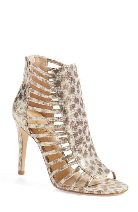 Stepping Out In These Breathtaking Gold Leopard Open Toe