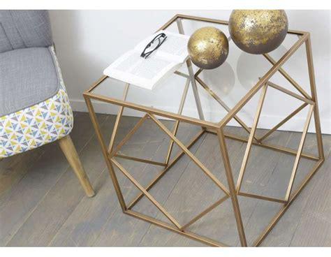 table bout de canapé en verre design bout de canapé verre et or design table design verre