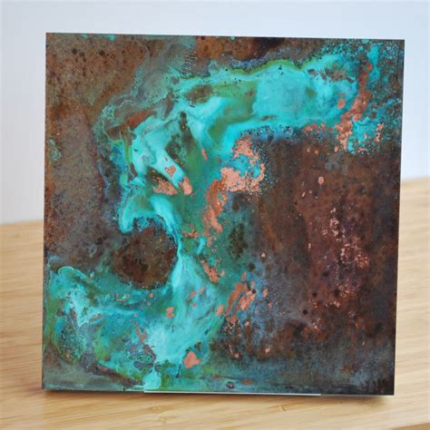 custom copper patina wall art   ck valenti