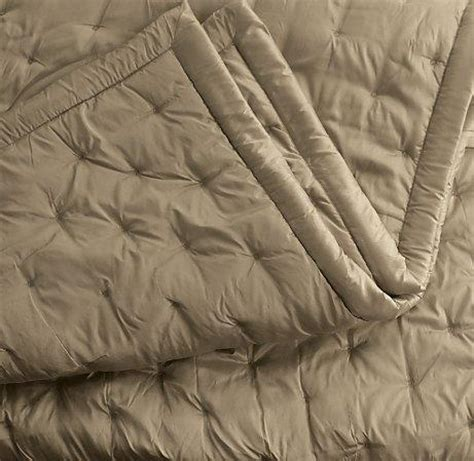 beige silk dot quilt  shams