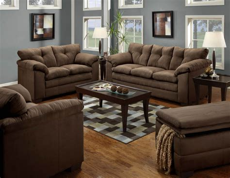 chocolate sofa and loveseat fabric living room sets