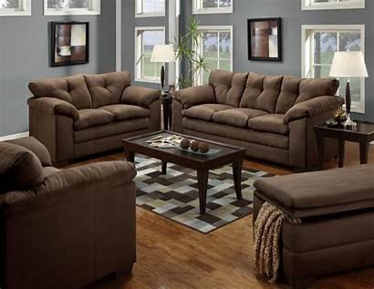 Sofa Loveseat Chocolate Living Brown Microfiber Furniture