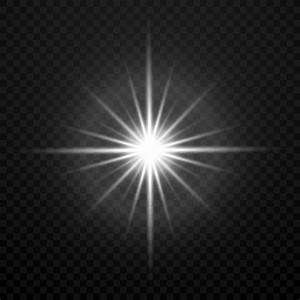 Vector, White, Glowing, Transparent, Brightly, Light, Star, Burst