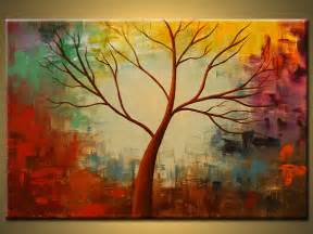 original paintingbirch tree abstract tree by artbyoak1 on etsy