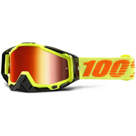 100 percent motocross goggles 100 percent new mx racecraft attack yellow mirror red