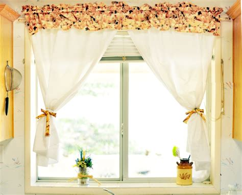 how to make simple kitchen curtains diy house decor