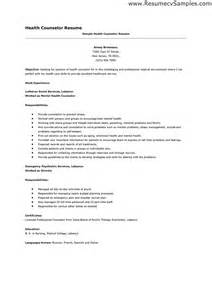 mental health manager resume sle resume as a counselor sales counselor lewesmr
