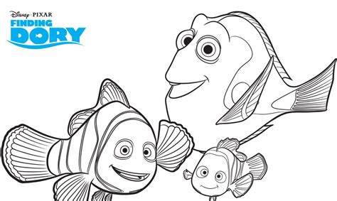 Free Finding Dory Printable Coloring Pages