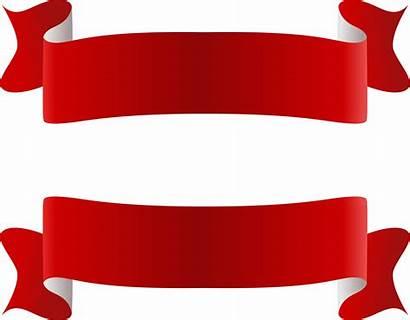 Banner Ribbon Clipart Vector Ribbons Blank Transparent