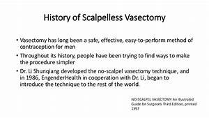 Scalpelless Vasectomy By Dr Grothuesmann