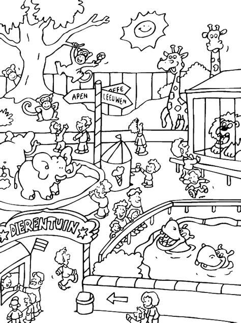 mewarnai kebun binatang gif gambar animasi animasi