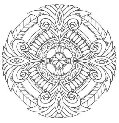 diamonds  ice mandala coloring page favecraftscom