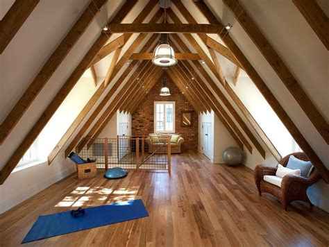 attic apartment home gym transitional  historic