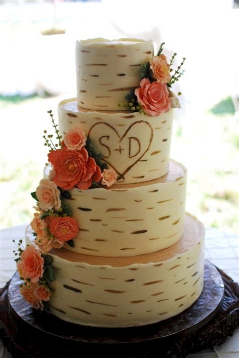 birch wood grain wedding cake cakecentralcom
