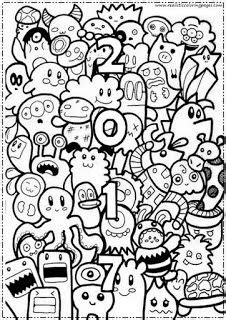 year coloring pages   adult   doodle