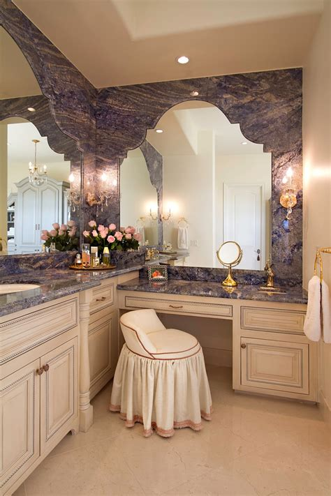 longer vanity with l shaped vanity in the bathroom decohoms