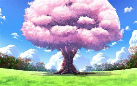 anime landscapes tree nature art upscale