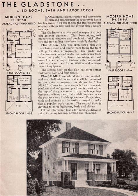 sears kit homes gladstone honor bilt american foursquare house plan