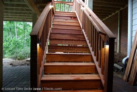 tiger wood decking nz tigerwood deck stairs with low voltage lighting yelp