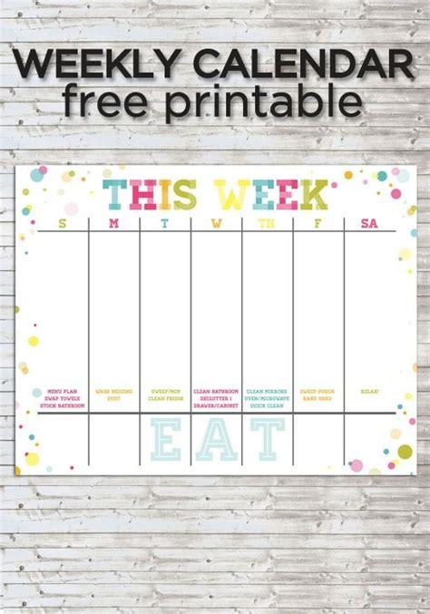 Colorful Weekly Calendar :: Free Printable   Weekly ...
