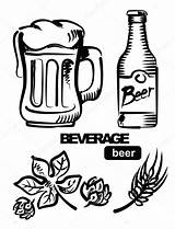 Beer Illustration Keg Vector Icon Coloring Pages Template Chalk Depositphotos sketch template
