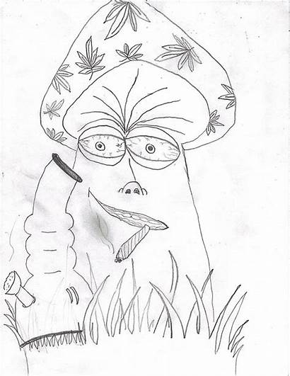 Stoner Easy Drawing Trippy Coloring Pages Drawings