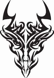 Tribal Dragon Head by Liren on DeviantArt