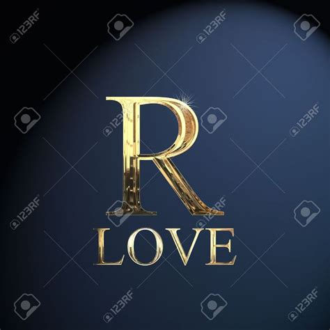 gold alphabet letter  word love   blue background stock photo picture  royalty
