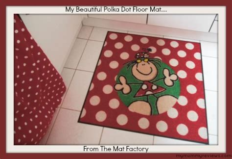 Review Of My Beautiful Wash + Dry Polka Dot Floor Mat And
