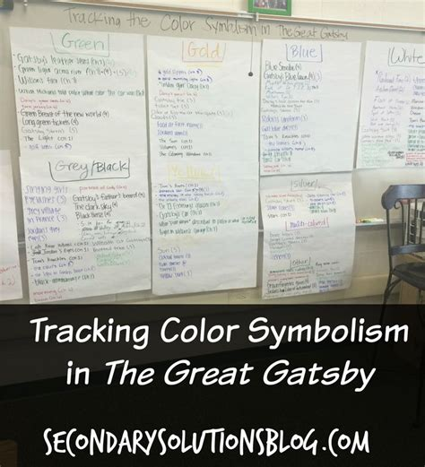gatsby colors 17 best images about teaching symbolism on