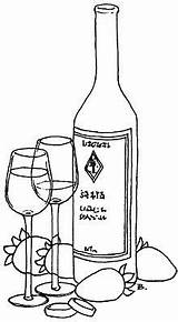 Wine Bottle Printable Patterns Coloring Drawing Bottles Quilling Line Pergameno Glass Pattern Pyrography Painting Rings Designs Morta Natura Lineal Punto sketch template